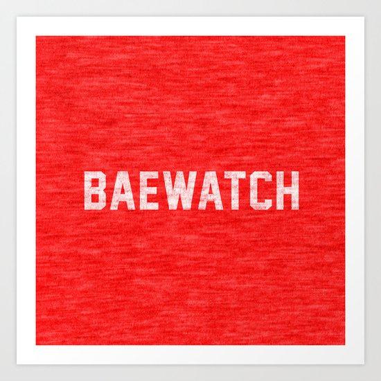 Baewatch Art Print