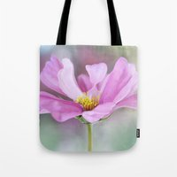 cosmos Tote Bags featuring Cosmos by Mandy Disher