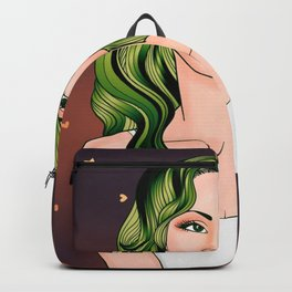 Green Hair Girl Backpack