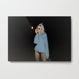 Champagne Deluxe Metal Print