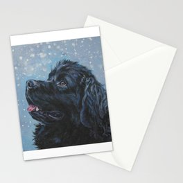 Newfoundland Dog Art Portrait from an original painting by L.A.Shepard Stationery Cards
