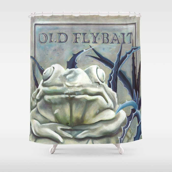 Disneyland Haunted Mansion Inspired Old FlyBait Shower Curtain