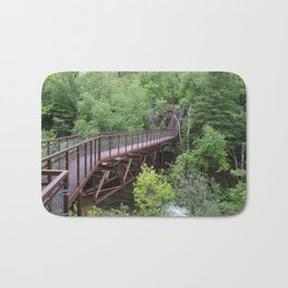 Bridge to a Waterfall Bath Mat