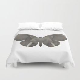 Elephant Butterfly Duvet Cover
