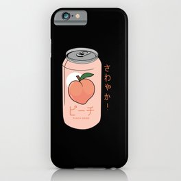Peach Drink Peach Ginger Ale Aesthetic iPhone Case