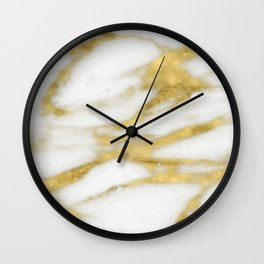 Bari golden marble Wall Clock