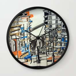 London From A Train Wall Clock