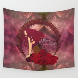 Autumn Fairy Nouveau Wall Tapestry