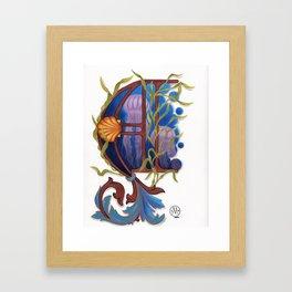Letter A illuminated Framed Art Print