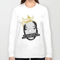 biggie Long Sleeve T-shirts featuring Biggie by JulieAaland