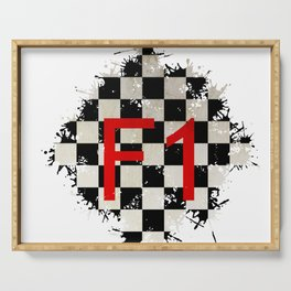 The Chequered Splatter Serving Tray