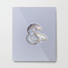 Blue ampersand Metal Print