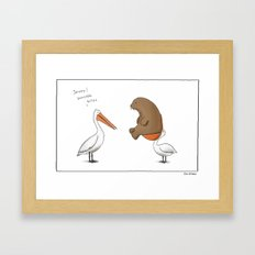 Sensible Bites  Framed Art Print