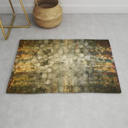 """""""Abstract golden river pebbles"""" Rug"""