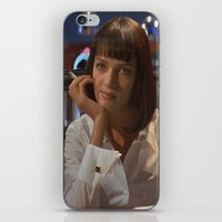 mia wallace iPhone & iPod Skins featuring Mia Wallace  by Claudia