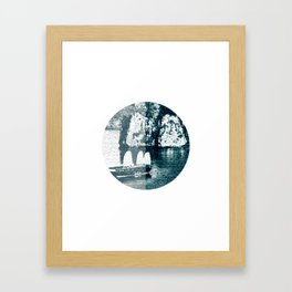 Bai Tho Junks Halong Bay Vietnam Framed Art Print