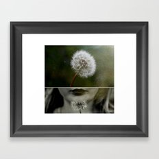 dandelion dreams two Framed Art Print