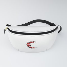 Moon of Red Roses Fanny Pack