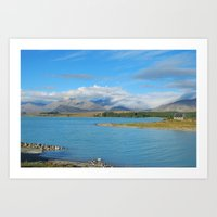 new zealand Art Prints featuring New Zealand by PeteJoey