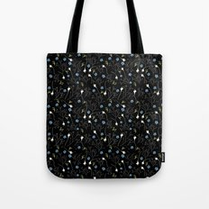 Florcitas black Tote Bag