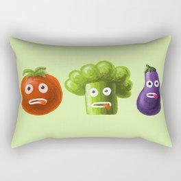 Funny Cartoon Vegetables Rectangular Pillow