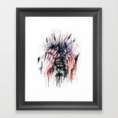 Metamorphosis-crow Framed Art Print