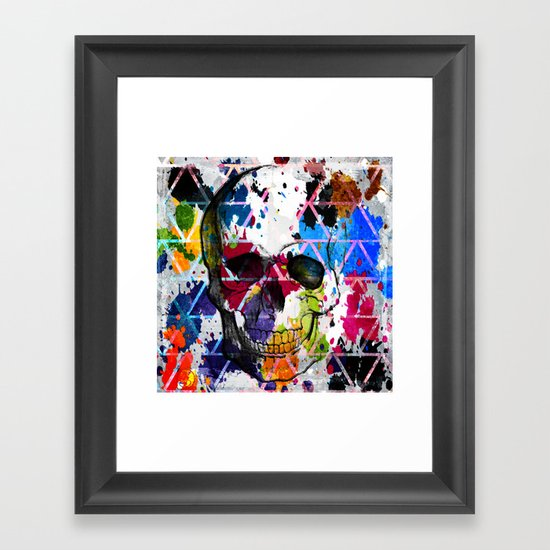 Abstract Skull Framed Art Print