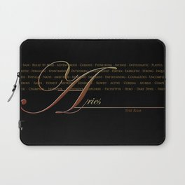 Sign Language for Aries Laptop Sleeve