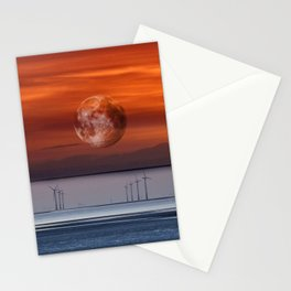 floating mooon Stationery Cards