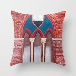 Finestra a Siena Throw Pillow