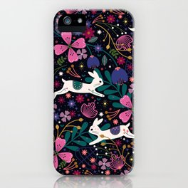 Rabbits in Flight iPhone Case