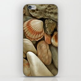 Sea Pebbles With Shells iPhone Skin