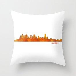 Houston City Skyline Hq v1 Throw Pillow