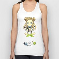 knitting Tank Tops featuring Knitting Meditation by Freeminds