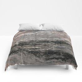 Smokey gray marble Comforters