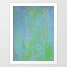 Teal, Orange and Blue  by Sharon Crumley Art Print