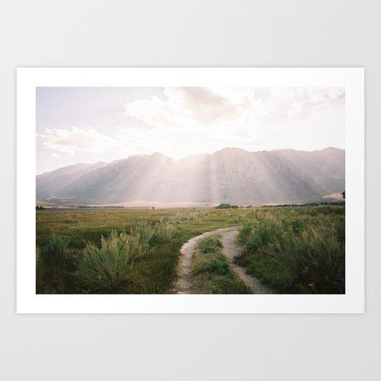 The Sierras off 395 is North-Eastern, Ca  Art Print