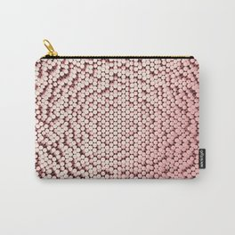 Pattern of red brushed metal cylinders Carry-All Pouch