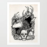 Eat the Rude inks Art Print