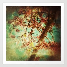Vintage Abstract Blossom Art Print