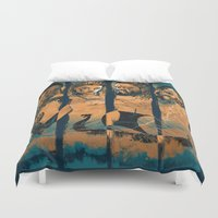 vikings Duvet Covers featuring Vikings by RicoMambo