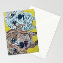Ollie and Bailey Dog Portrait Stationery Cards