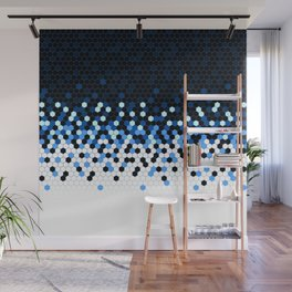 Flat Tech Camouflage Reverse Blue Wall Mural