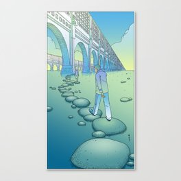 Stepstones / TheTail Canvas Print