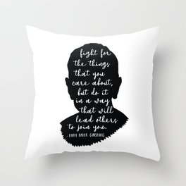 Ruth Bader Ginsburg Quote Throw Pillow