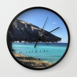 Aruba Palapa Wall Clock