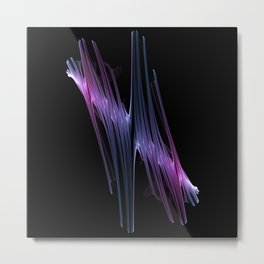 "Chaotic Flow Photo Print  ""Chaotic Flow5"" - Colorful patterns Surrealistic Expression  Metal Print"