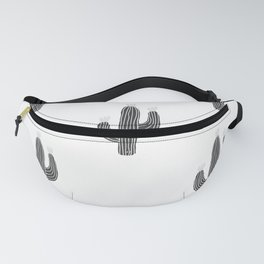 Cactus bloom - bw Fanny Pack