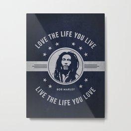 Marley - Blue Metal Print