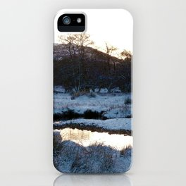 Snow on the hills iPhone Case